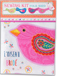 Sewing Project Kit-Cotton Pink embroidered Bird additional picture 1