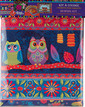 Sewing Project Kit-Owls Tablet case- Velvet additional picture 1