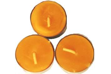 Beeswax Tealight Candles, 3-pack picture