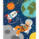 Into Space 64-Piece Tin Canister Puzzle
