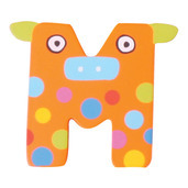 Crazy Animals Letter M (One Supplied - Designs Vary)