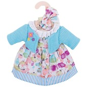 Turquoise Cardigan and Dress (for 34cm Doll)