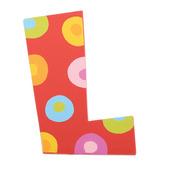 Spots & Stripes Letter L (Spots)