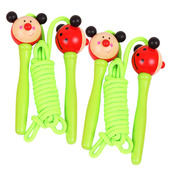 Coloured Skipping Rope (Pack of 2 - Green Handle Ladybird)