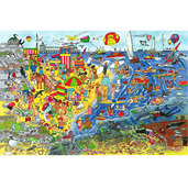 Seaside Floor Puzzle (96 Piece)
