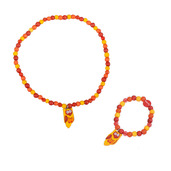 Owl Bracelet and Necklace (Yellow Owl)