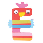 Crazy Animals Letter E (One Supplied - Designs Vary)