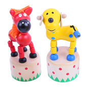 Farm Animal Pushup (Pack of 2 - Horse and Dog)