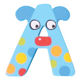 Crazy Animals Letter A (Blue Dog)