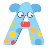 Crazy Animals Letter A (Blue Dog)