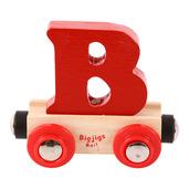 Rail Name Letter B (Dark Red)