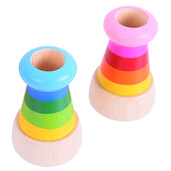 Snazzy Wooden Kaleidoscope (Pack of 2 - Blue and Pink)