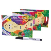 Jungle Number Line - Concertina Board Game with Pen
