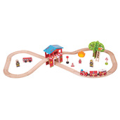 Fire Station Train Set