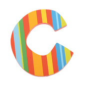 Spots & Stripes Letter C (Stripes)