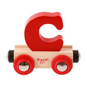 Rail Name Letter C (Dark Red)
