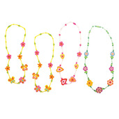 Snazzy Wooden Necklaces (Pack of 4 - 3 Green and 1 Pink)