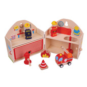Mini Fire Station Playset