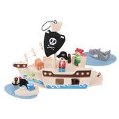 Mini Pirate Ship Playset