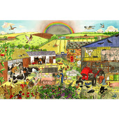Farm Floor Puzzle (96 Piece)