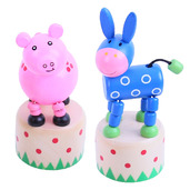 Farm Animal Pushup (Pack of 2 - Pig and Donkey)