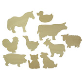 Farm Animals Drawing Templates