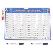 Times Tables in Order with Secret Decoder and 2 Dry Wipe Pens