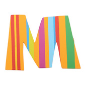 Spots & Stripes Letter M (Stripes)