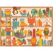 Wild Reading Floor Puzzle