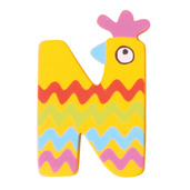 Crazy Animals Letter N (One Supplied - Designs Vary)