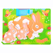 Chunky Puzzle Rabbit and Kitten