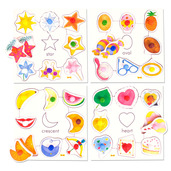 Shapes Set 2 Pegged Puzzles (Set of 4)
