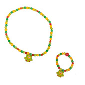 Owl Bracelet and Necklace (Green Owl)