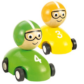 Pull Back Racing Car (Pack of 2 - Yellow and Green)