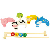 Farm Animal Carpet Croquet