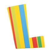 Spots & Stripes Letter L (Stripes)