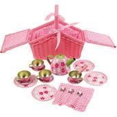 Pink Basket Tea Set