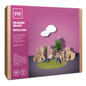 Bloks Giant Interlocking Cardboard Building Blocks (60 Blocks)