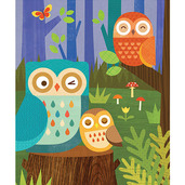 Owl Family 64-Piece Tin Canister Puzzle