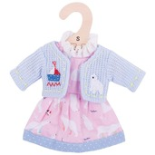 Polar Bear Pink Dress (for 28cm Doll)