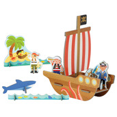 Colour In Pirate Ship Pop-Out