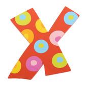 Spots & Stripes Letter X (Spots)