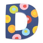 Spots & Stripes Letter D (Spots)