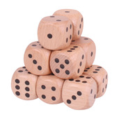 Natural Giant Dice (Pack of 12)