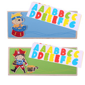 Name Plaque (Pirate) (Pack of 2 - Light Blue and Green)