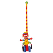 Circus Push Along (Clown with Yellow Hat/Blue Wheels)