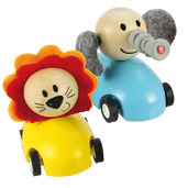 Pull Back Racing Animal (Pack of 2 - Blue and Yellow)