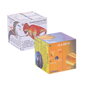 Science and History Cube Book Pack - Dinosaurs and Planets Cubes