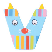 Crazy Animals Letter V (One Supplied - Designs Vary)
