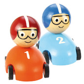 Pull Back Racing Car (Pack of 2 - Orange and Blue)